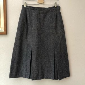Pendleton A-Line Wool Skirt, Blue/Grey Sz M